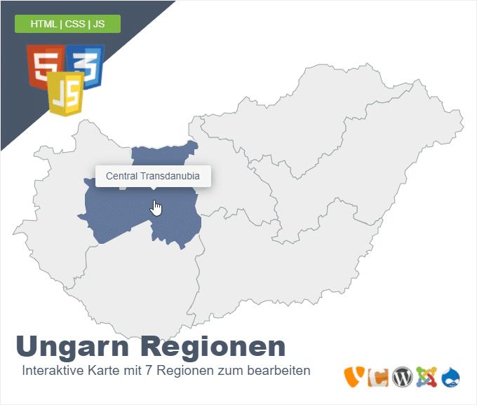 Ungarn Regionen
