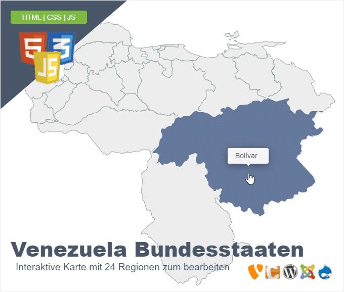 Venezuela Bundesstaaten