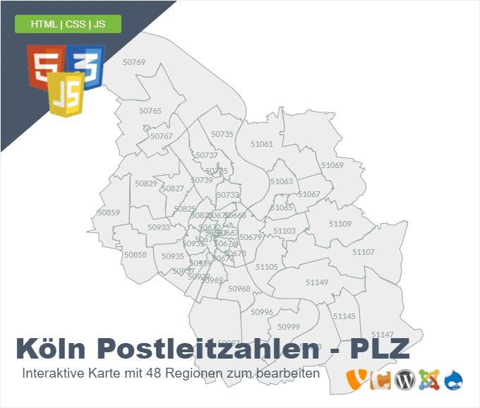 Köln Postleitzahlen - PLZ