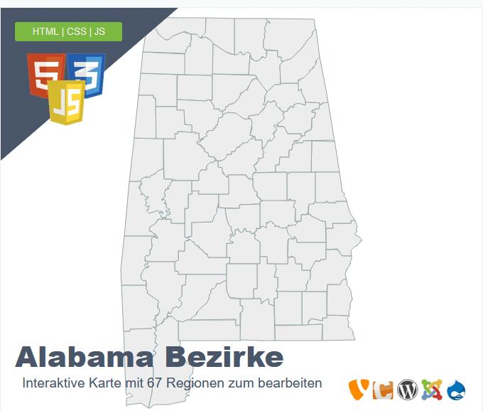 Alabama Bezirke