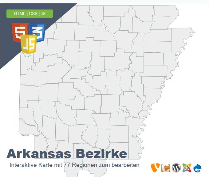 Arkansas Bezirke