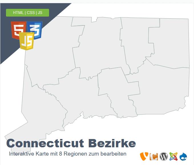 Connecticut Bezirke