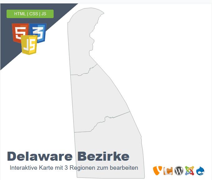 Delaware Bezirke