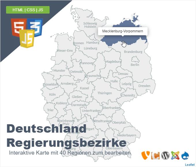 Deutschlandkarte Regierungsbezirke