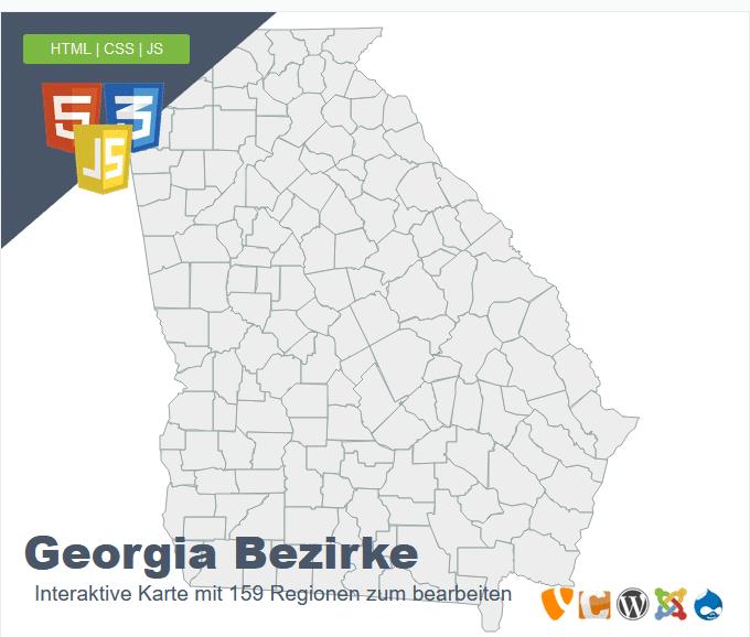 Georgia Bezirke