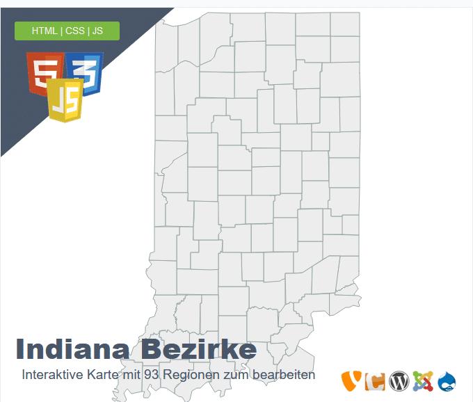 Indiana Bezirke