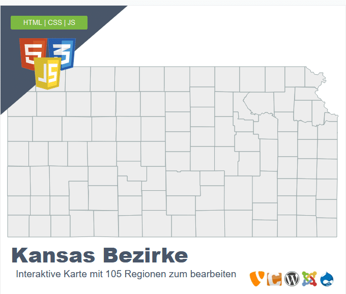 Kansas Bezirke