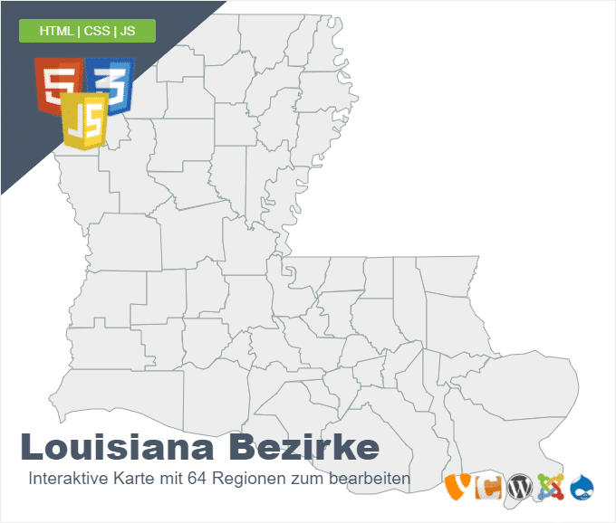 Louisiana Bezirke