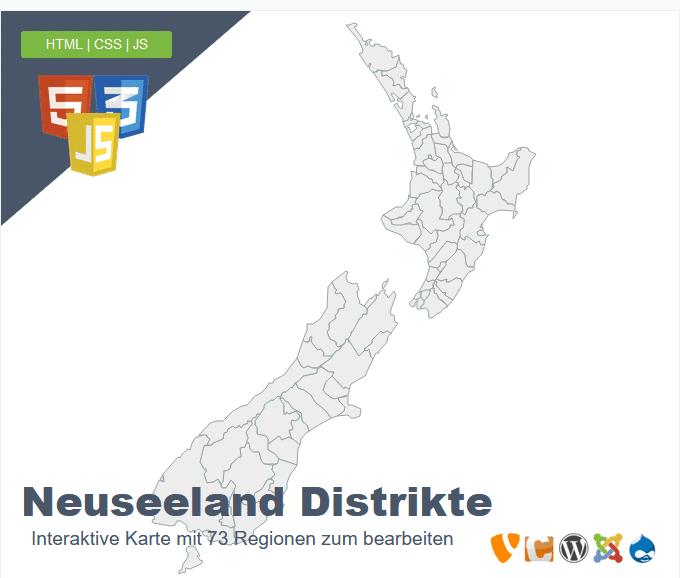 Neuseeland Distrikte