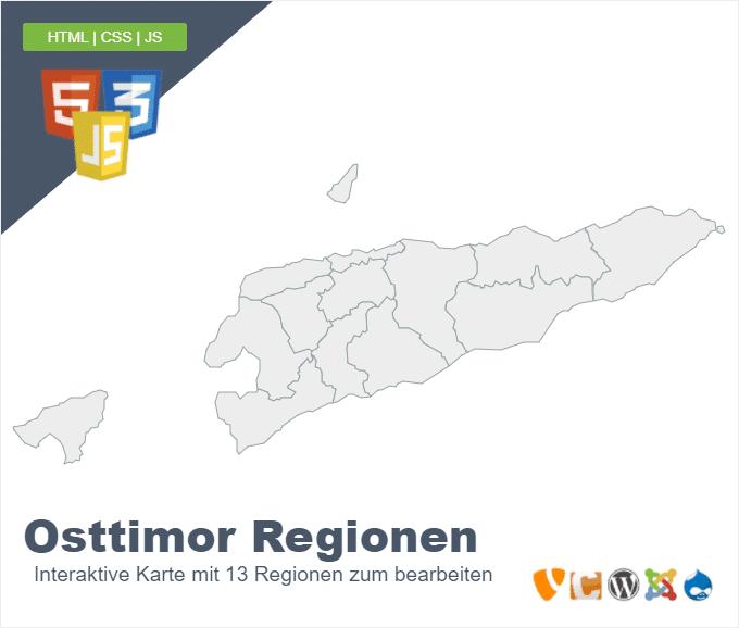 Osttimor Regionen