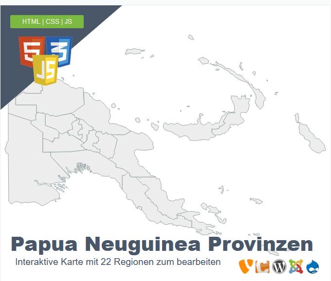 Papua Neuguinea Provinzen