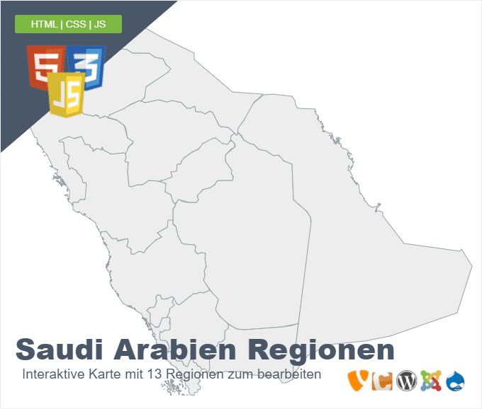 Saudi Arabien Regionen