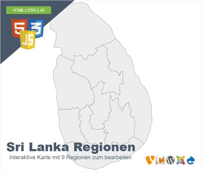 Sri Lanka Regionen