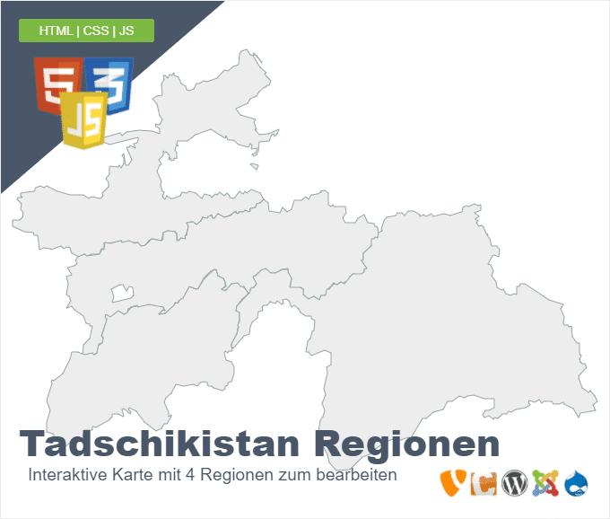 Tadschikistan Regionen