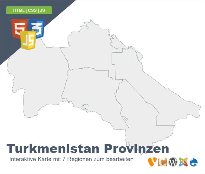 Turkmenistan Regionen