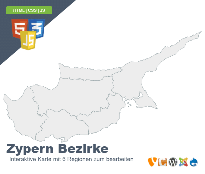 Zypern Bezirke