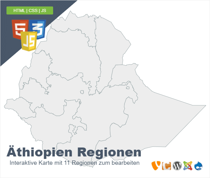 Äthiopien Regionen
