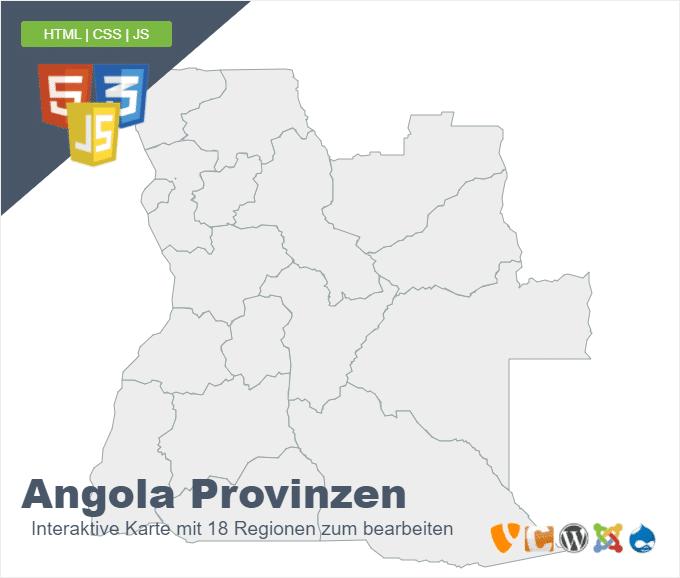 Angola Provinzen