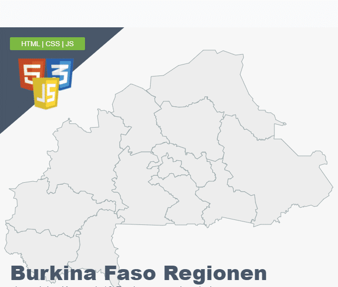 Burkina Faso Regionen