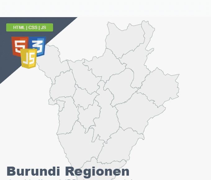 Burundi Regionen