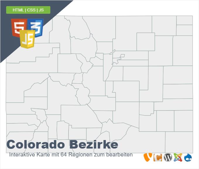Colorado Bezirke