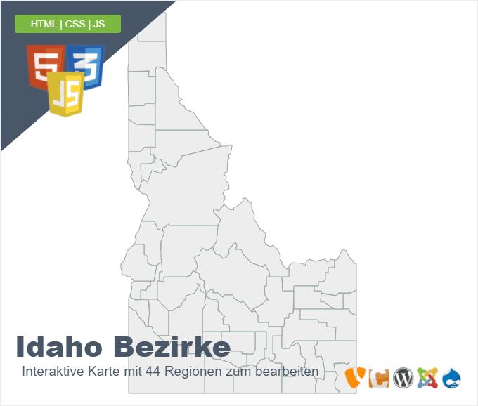 Idaho Bezirke