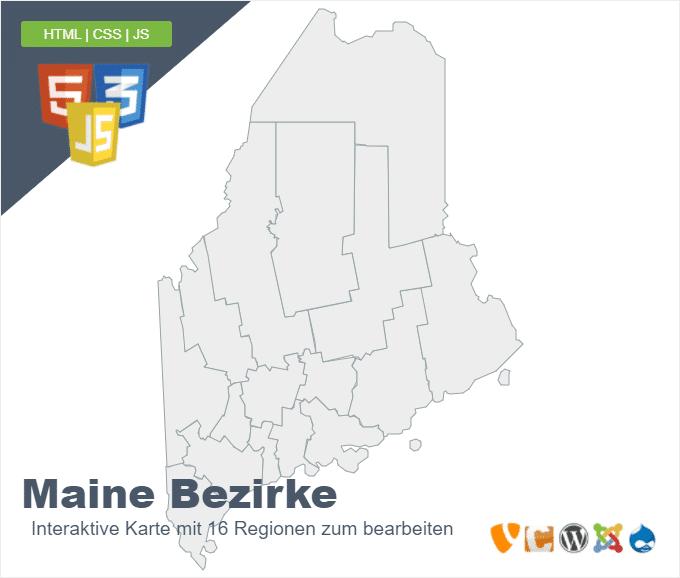 Maine Bezirke