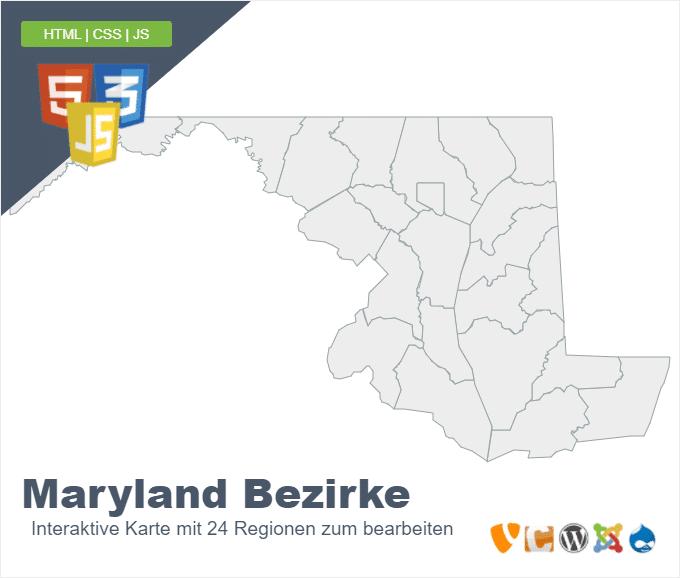 Maryland Bezirke