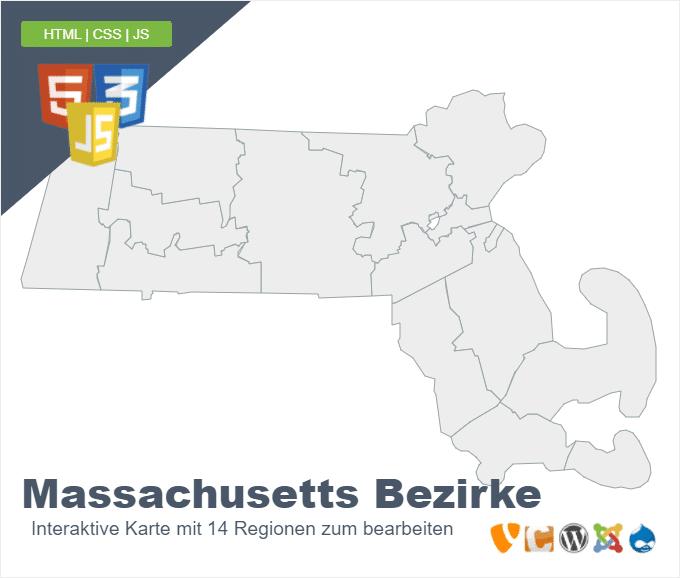 Massachusetts Bezirke