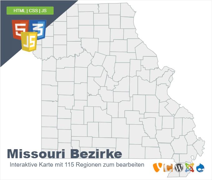 Missouri Bezirke