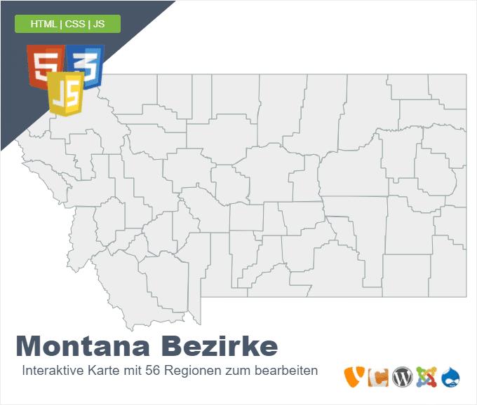 Montana Bezirke