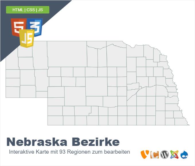 Nebraska Bezirke