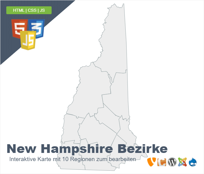 New Hampshire Bezirke