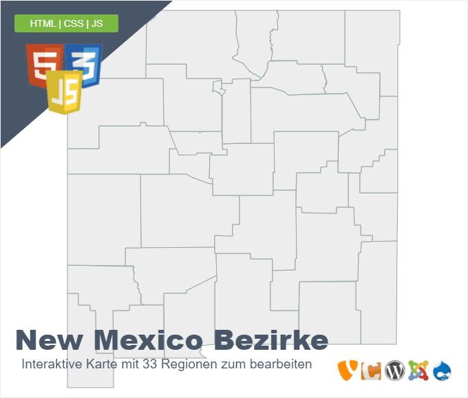 New Mexico Bezirke