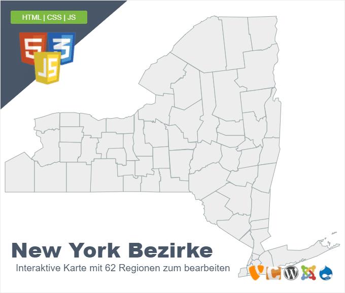 New York Bezirke ( Bundesstaat )