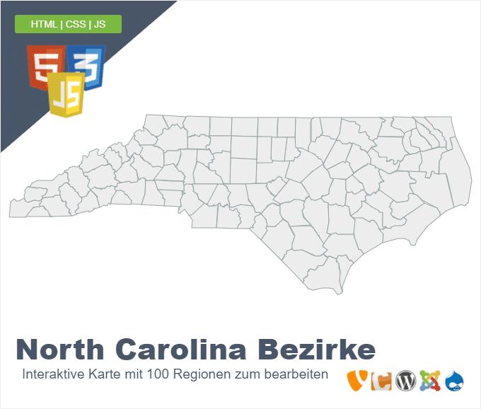 North Carolina Bezirke