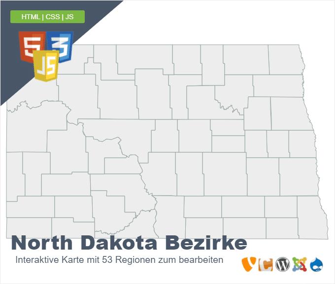 North Dakota Bezirke
