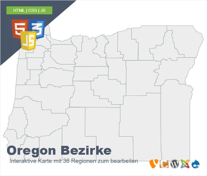Oregon Bezirke