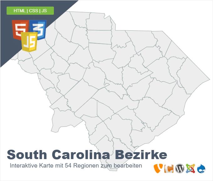 South Carolina Bezirke