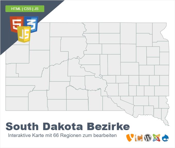 South Dakota Bezirke
