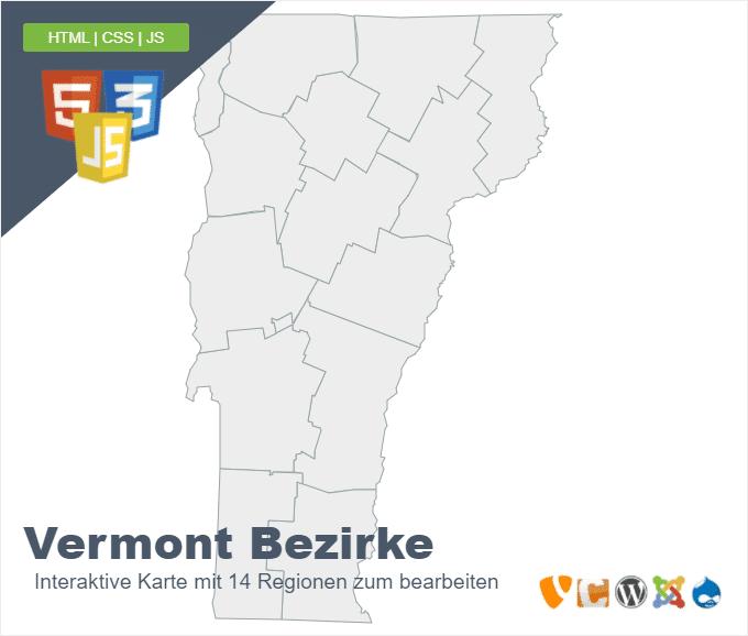 Vermont Bezirke