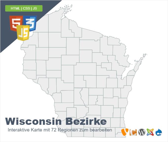 Wisconsin Bezirke
